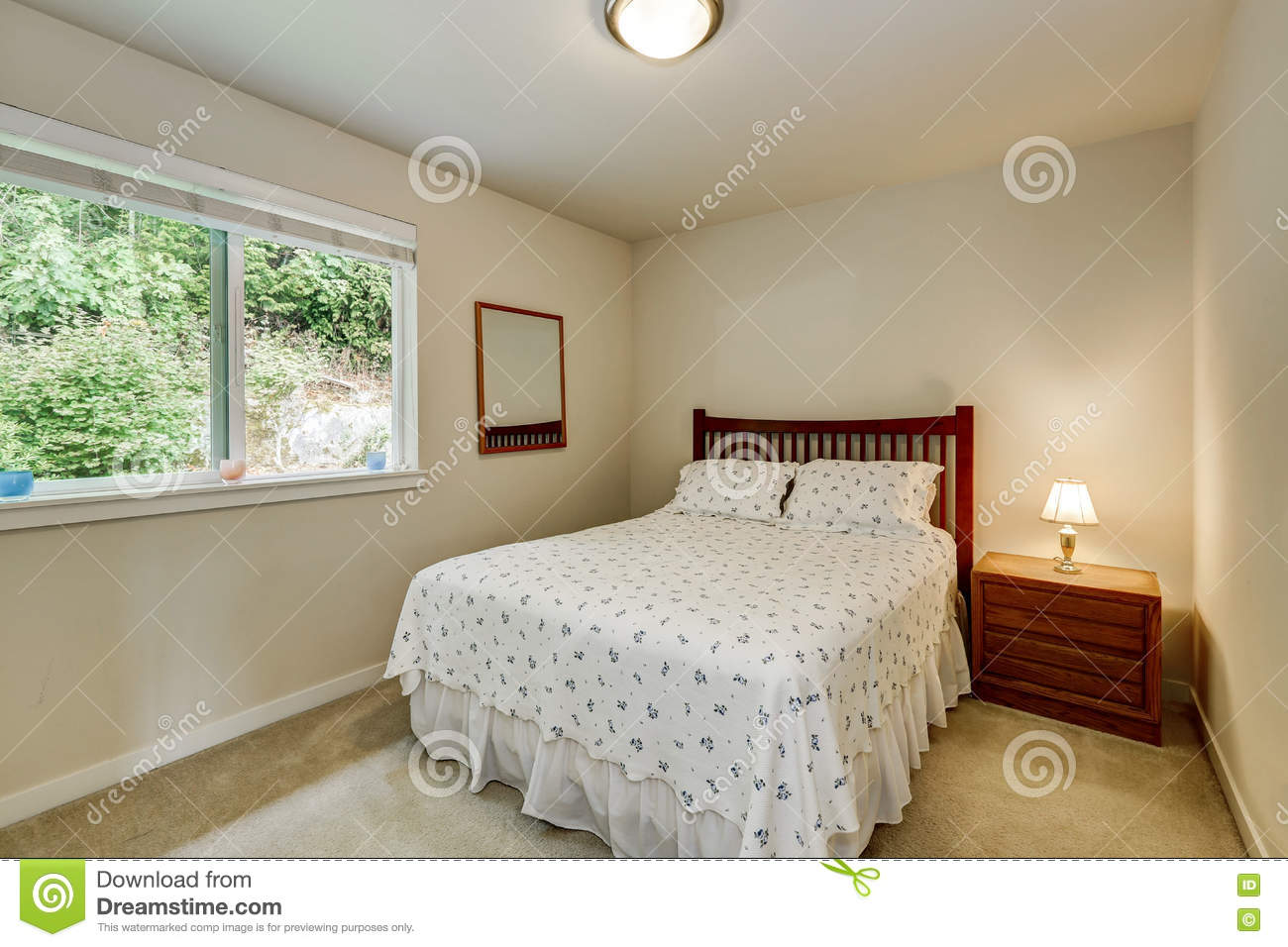 Simple Bedroom Interior Design Stock Image Image Of Comfortable Architecture 79043385