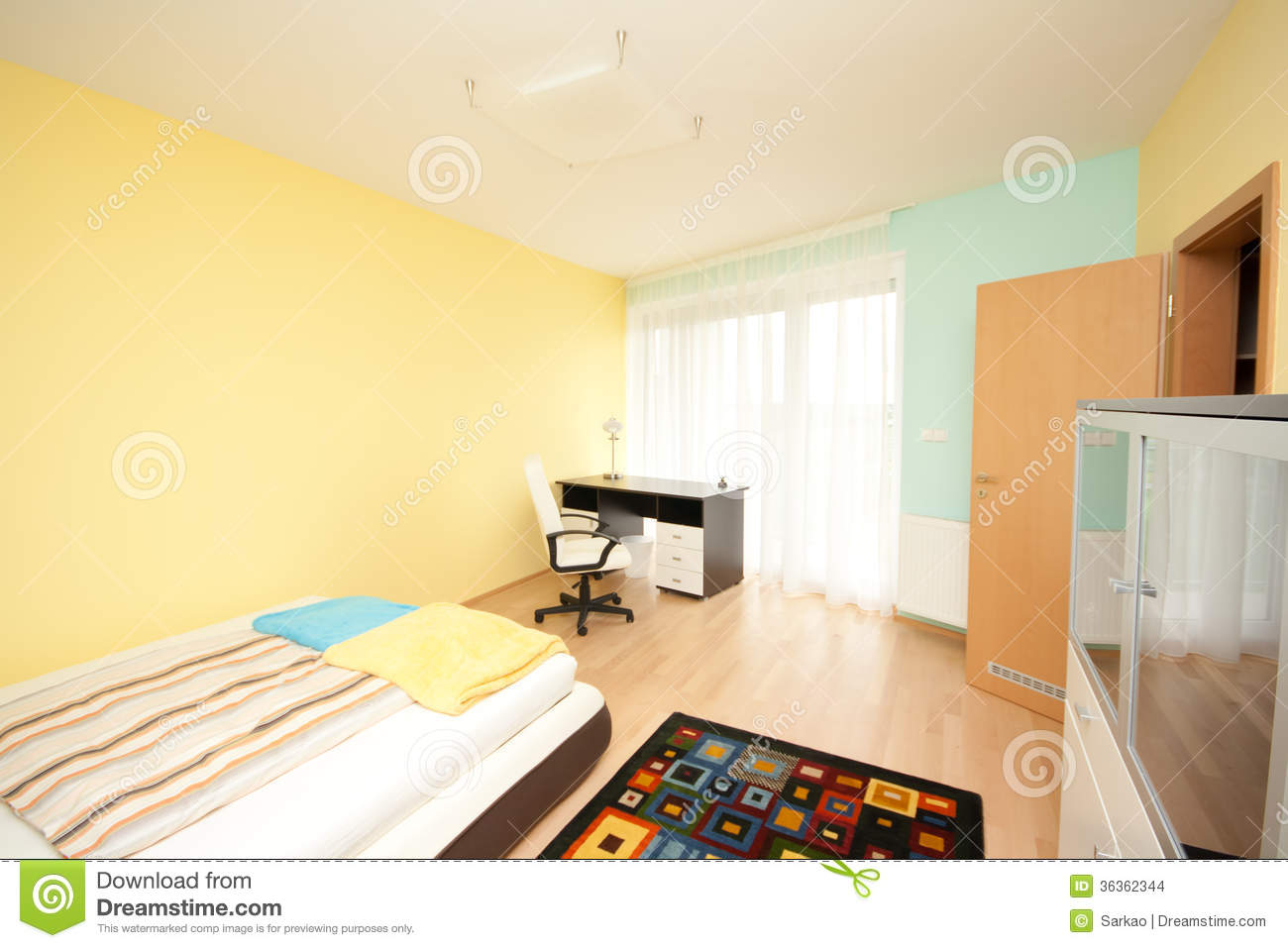 Simple bedroom stock images image 36362344 - Image of simple bedroom ...