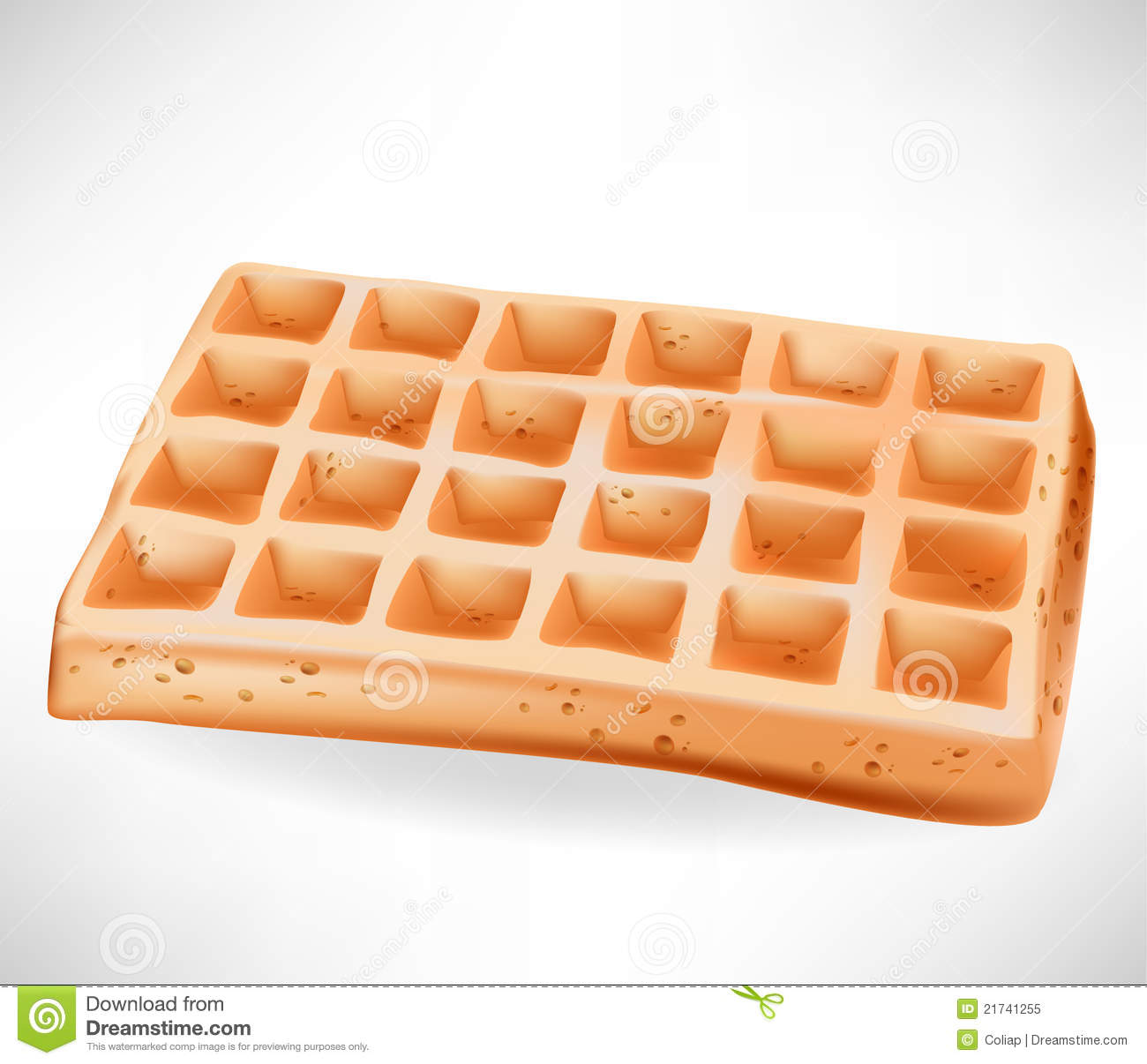 Simple Belgian Waffle Royalty Free Stock Photo - Image ...
