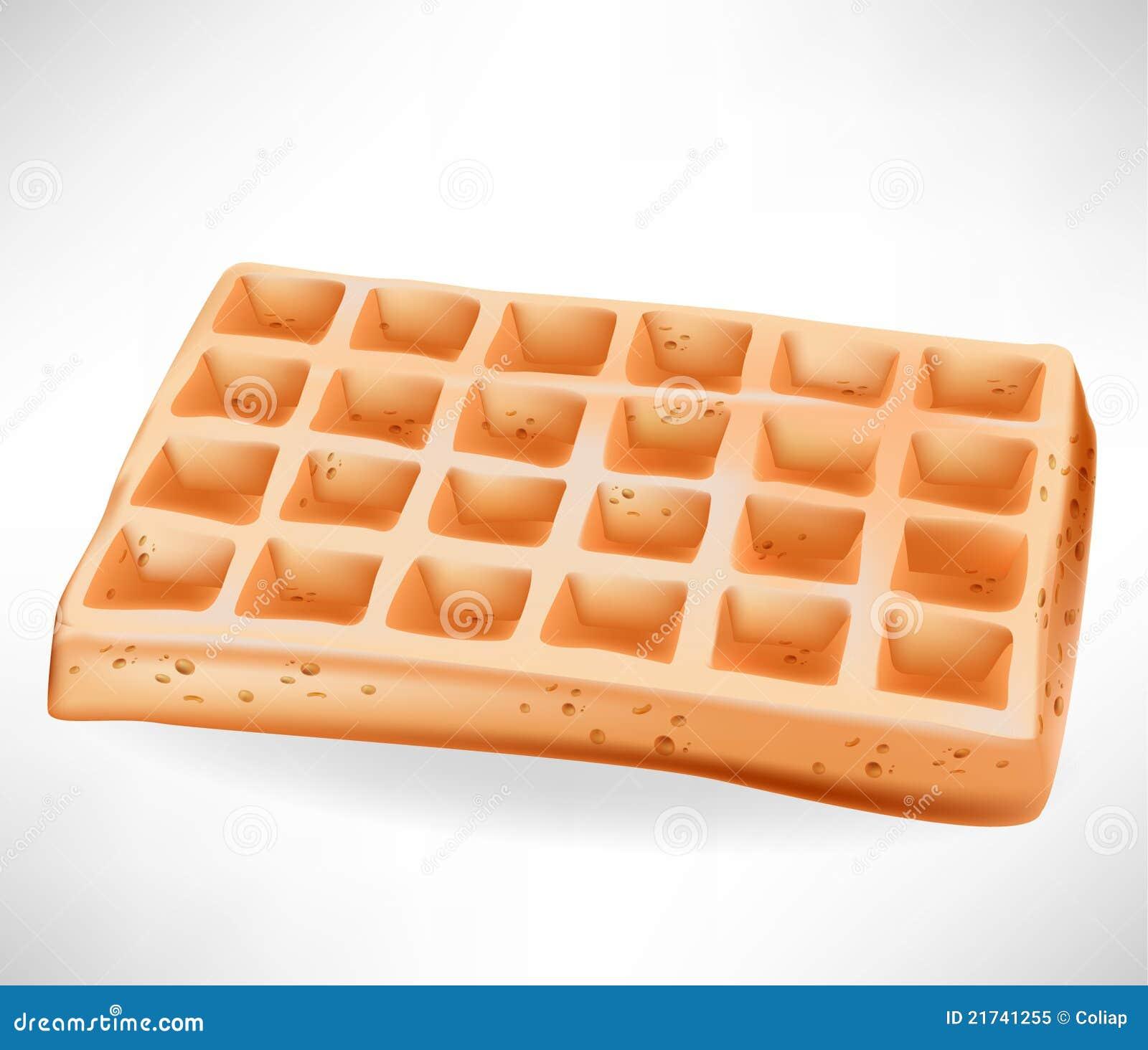Simple Belgian Waffle Royalty Free Stock Photo - Image ...