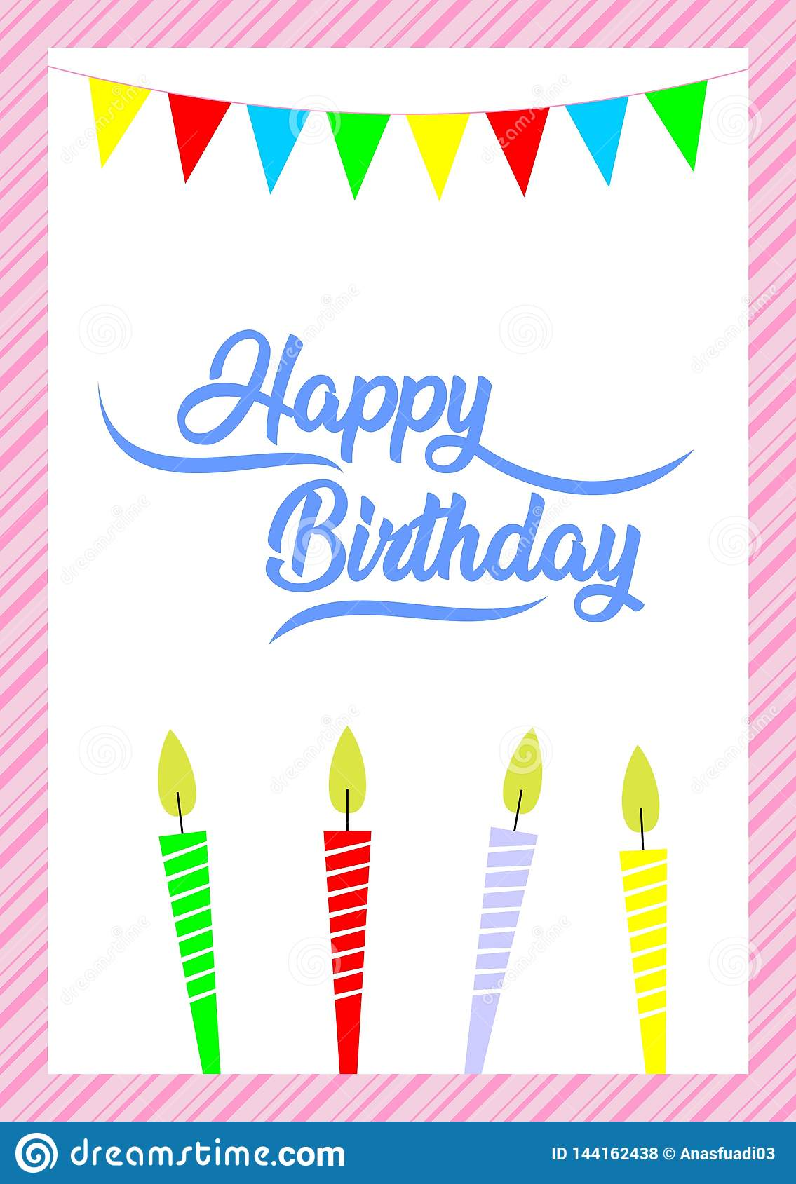 Happy Birthday Greeting Card Simple Cards For Friends Beloved Family