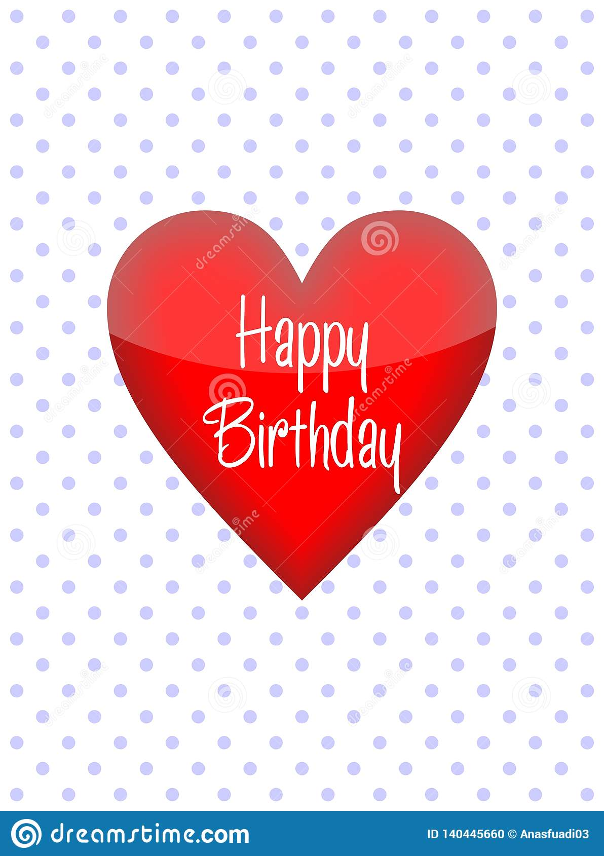 Simple Birthday Greeting Card A Symbol Of Love Design For Print Greetings Shirt Banner Poster Happy With