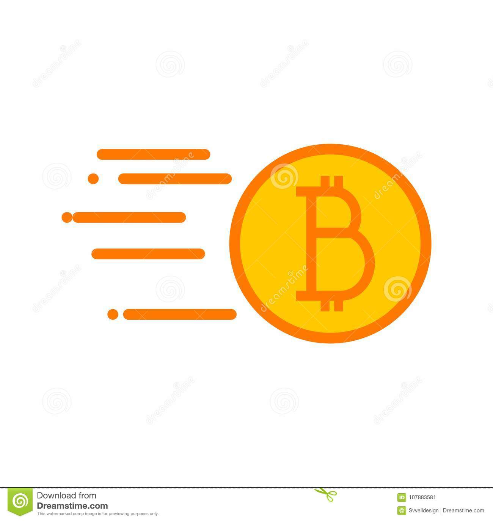 Simple Bitcoin Quick Sending Vector Illustration Graphic