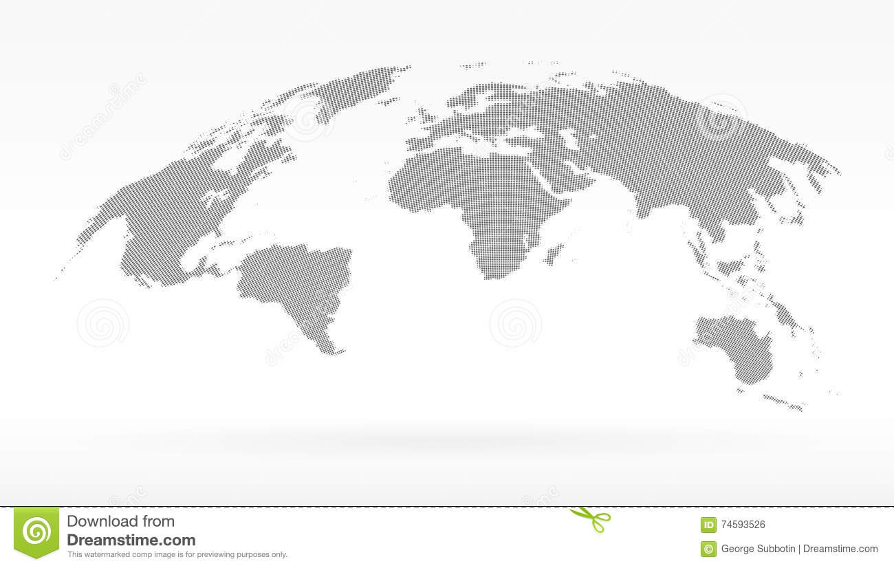 Download Simple Black Dots World Map Concept Of Infographics Element Trip Around Globalization