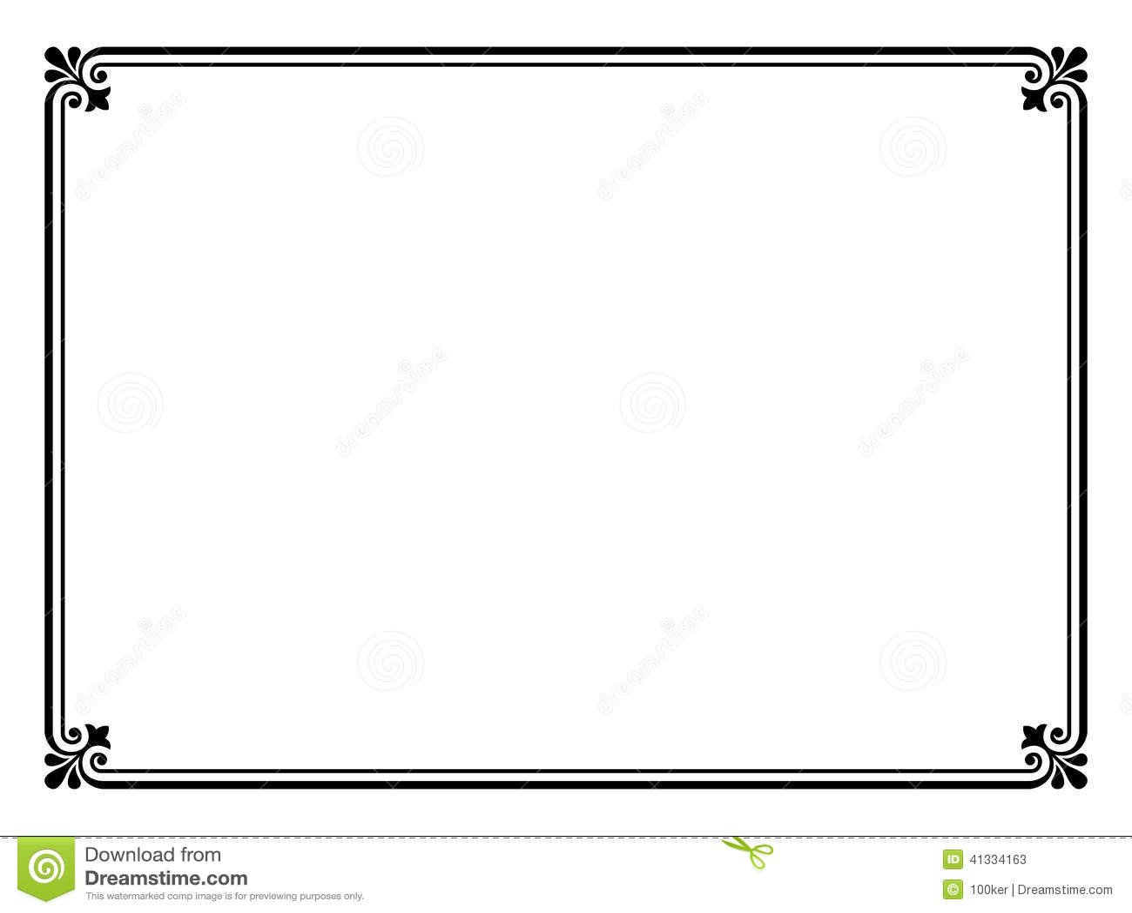Simple Black Ornamental Decorative Frame Stock Vector