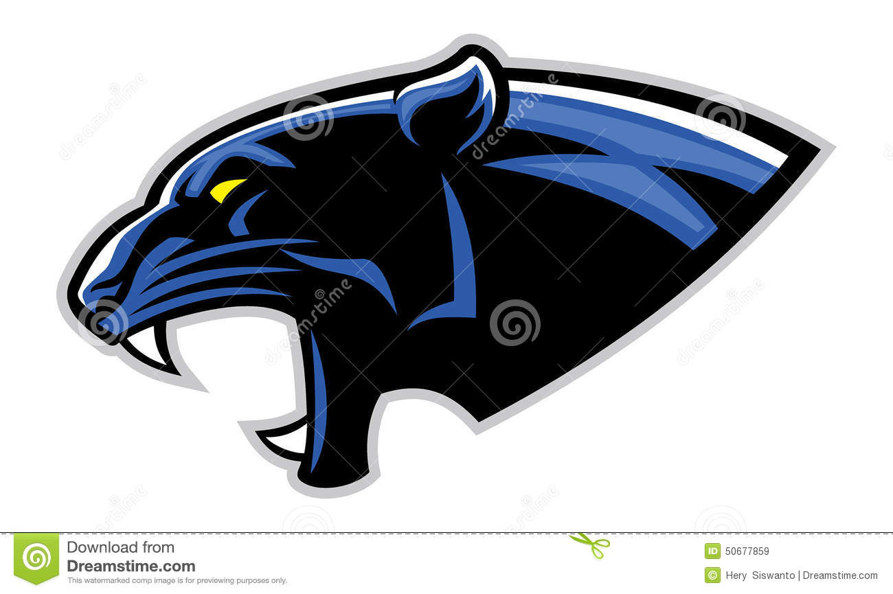 Simple Black Panther Head Stock Vector - Image: 50677859