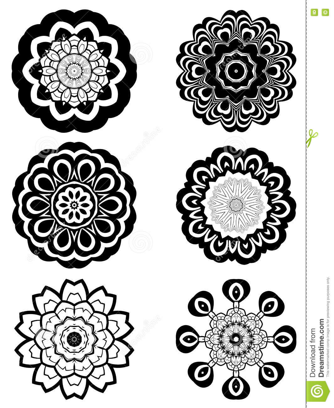 Simple black and white flowers stock vector illustration of style download simple black and white flowers stock vector illustration of style power 74006340 mightylinksfo