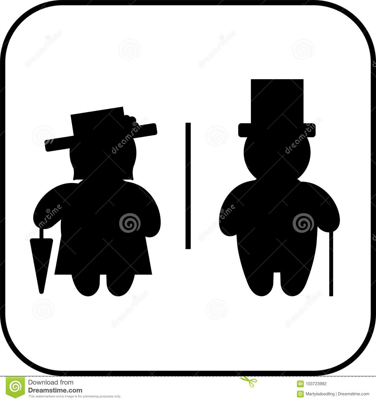 restroom sign man and woman stock vector illustration of restroom
