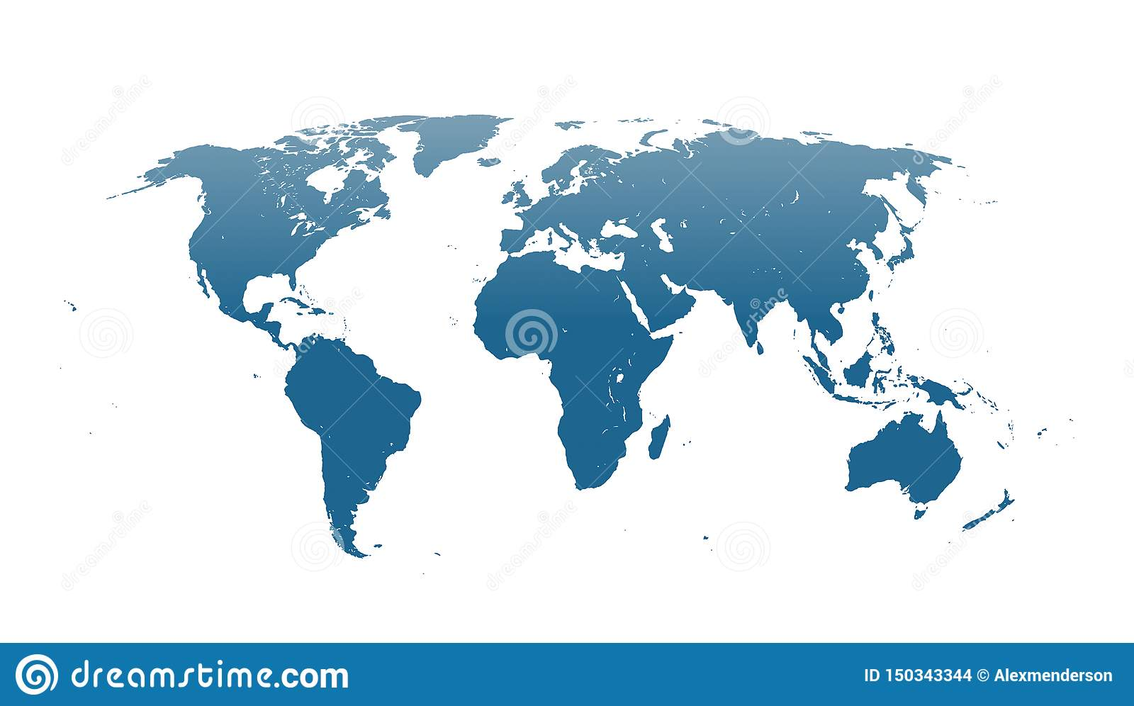 World Map Vector With Continents And Oceans Stock Photo ...
