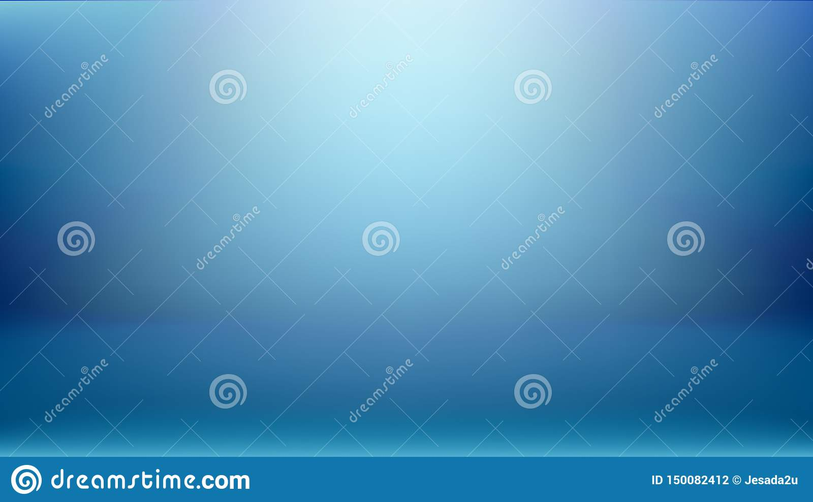 Simple Blue Studio Background Used As Display Your Products Montage Design Backdrop Stock Vector Illustration Of Radial Blue 150082412