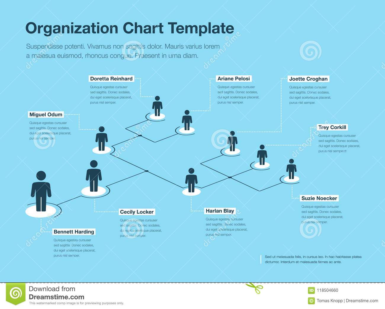 Simple blue and white company organization hierarchy chart template download simple blue and white company organization hierarchy chart template stock illustration illustration of executive flashek Images