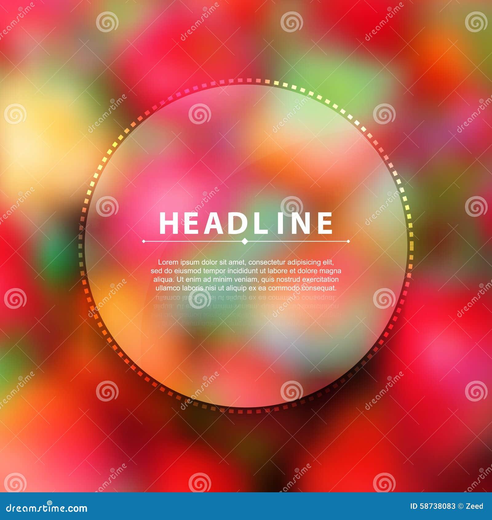 Simple Blurred Photo Realistic Background Blank Headline Brochure ...