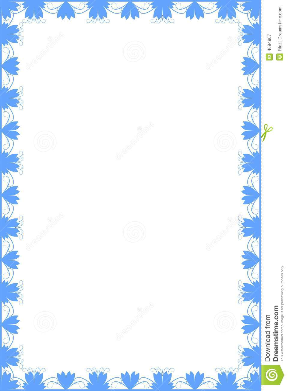 Simple Border Stock Vector Illustration Of Elegance Silhouette