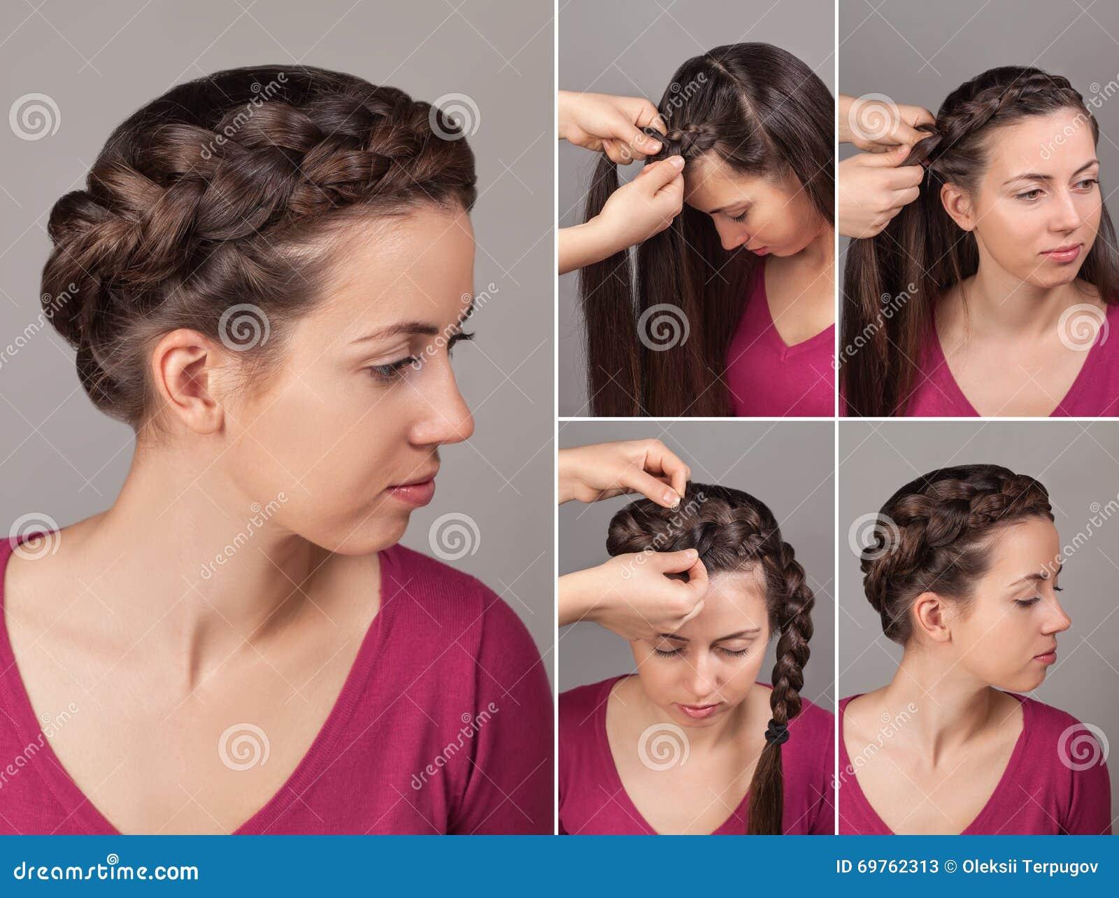 Simple braid hairstyle tutorial stock image image of fashion simple braid hairstyle tutorial baditri Choice Image