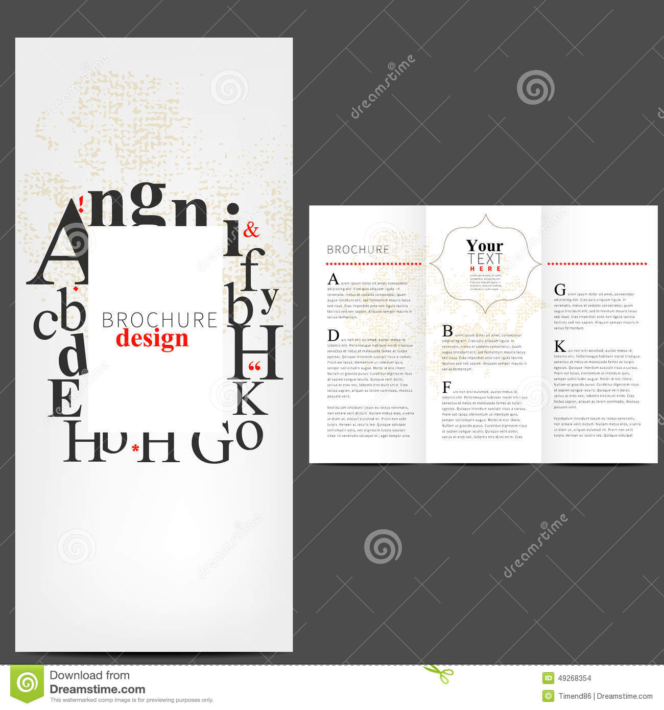 simple brochure layout design stock illustration illustration of