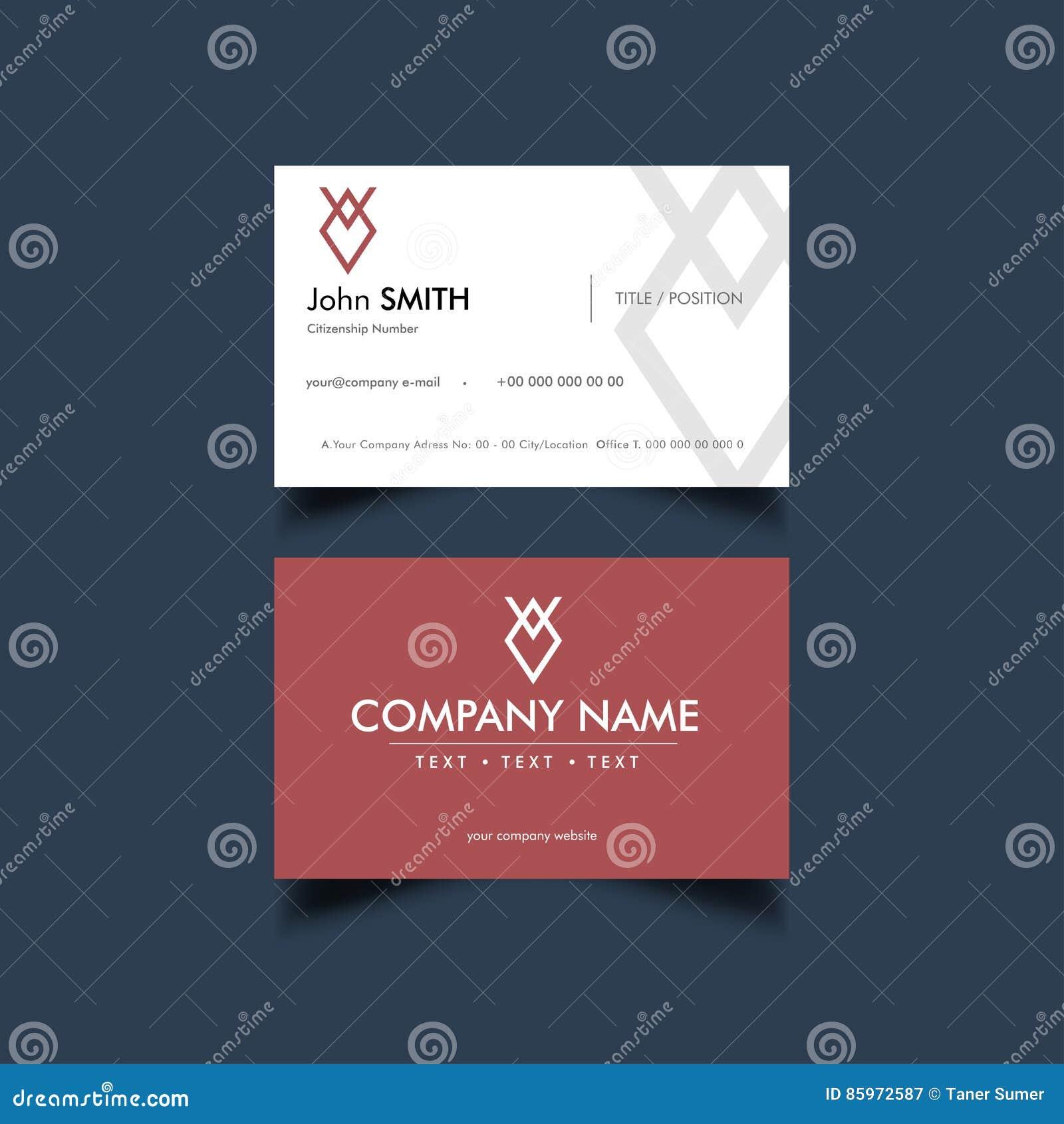 Simple business card stock vector illustration of layout 85972587 simple business card template vector illustration friedricerecipe Gallery