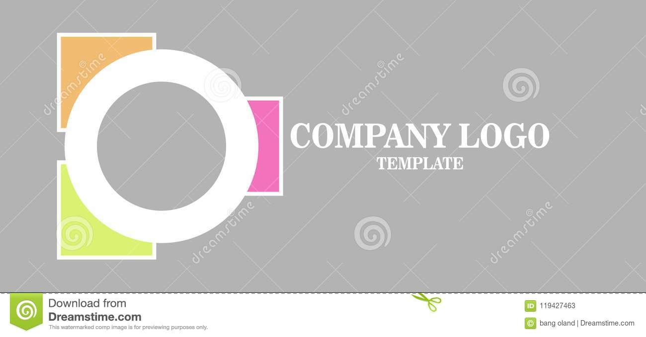 Simple Business Logo Reactangle And Ellipse Modern Vector Stock ...