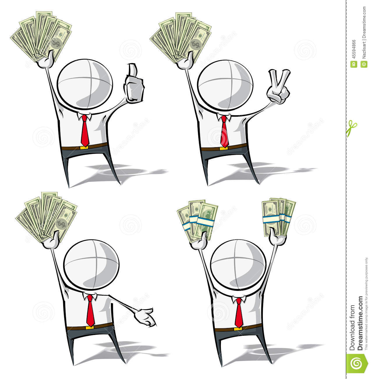 Animation Character Designer Salary : Simple business people money stock vector image