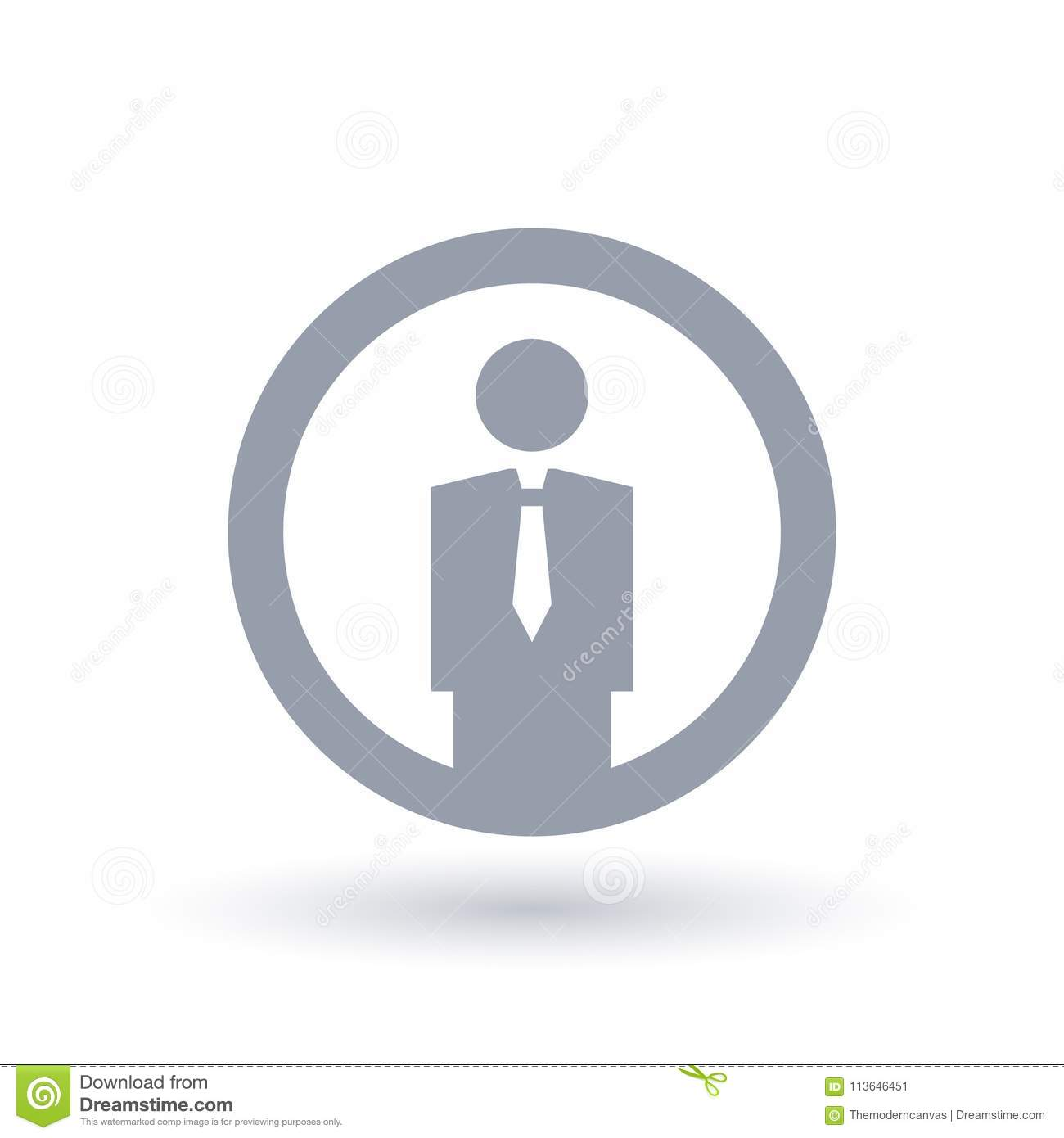 simple businessman icon professional employee symbol stock vector