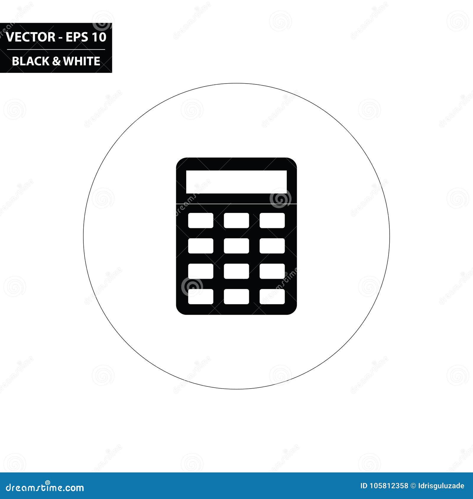 Calculator Black White Icon Stock Illustrations 7 812 Calculator Black White Icon Stock Illustrations Vectors Clipart Dreamstime