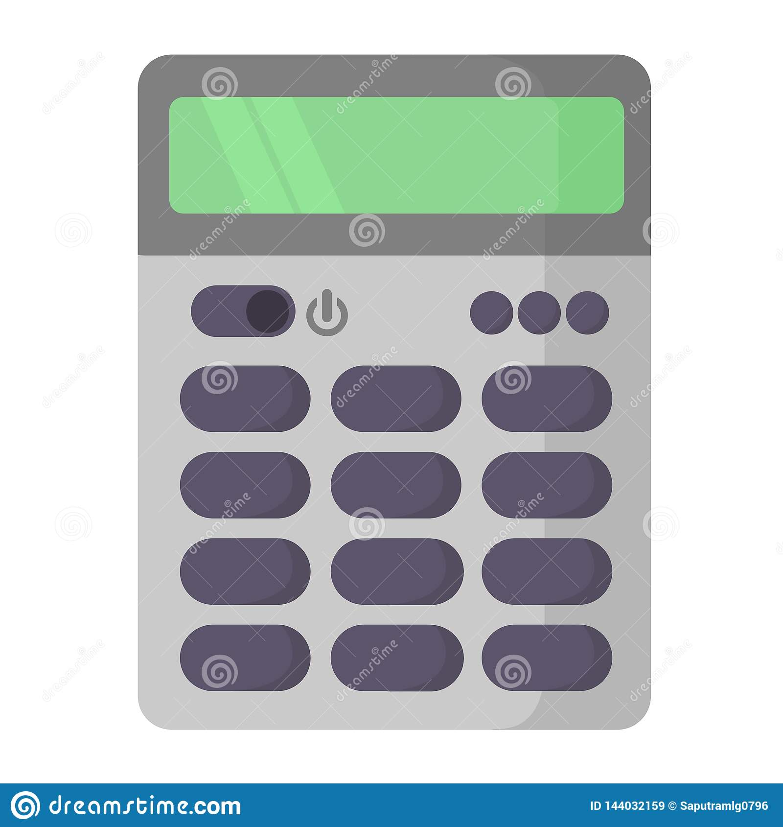 Simple calculator flat icon