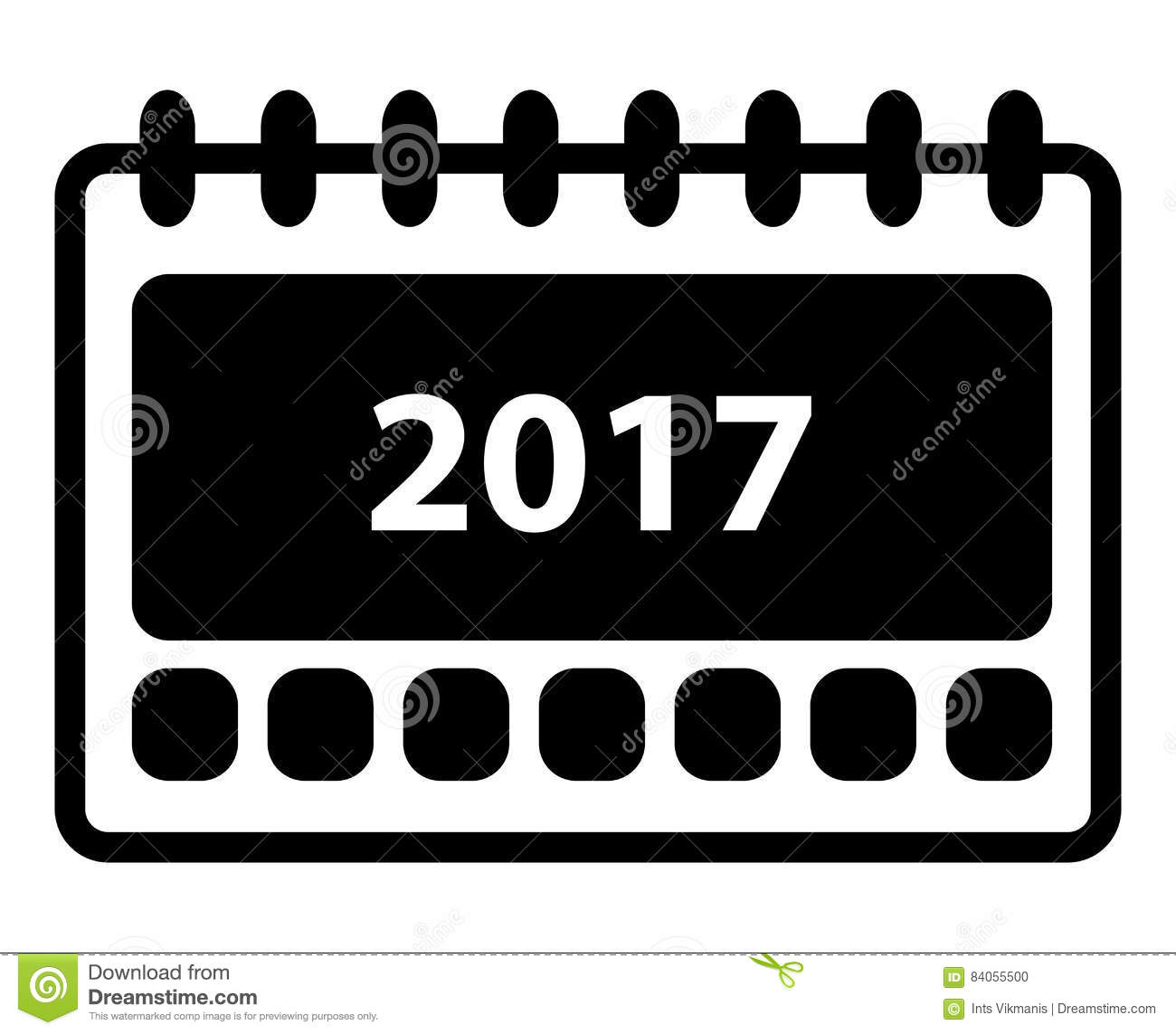 Calendar Pages Vector : Simple calendar icon stock vector image of