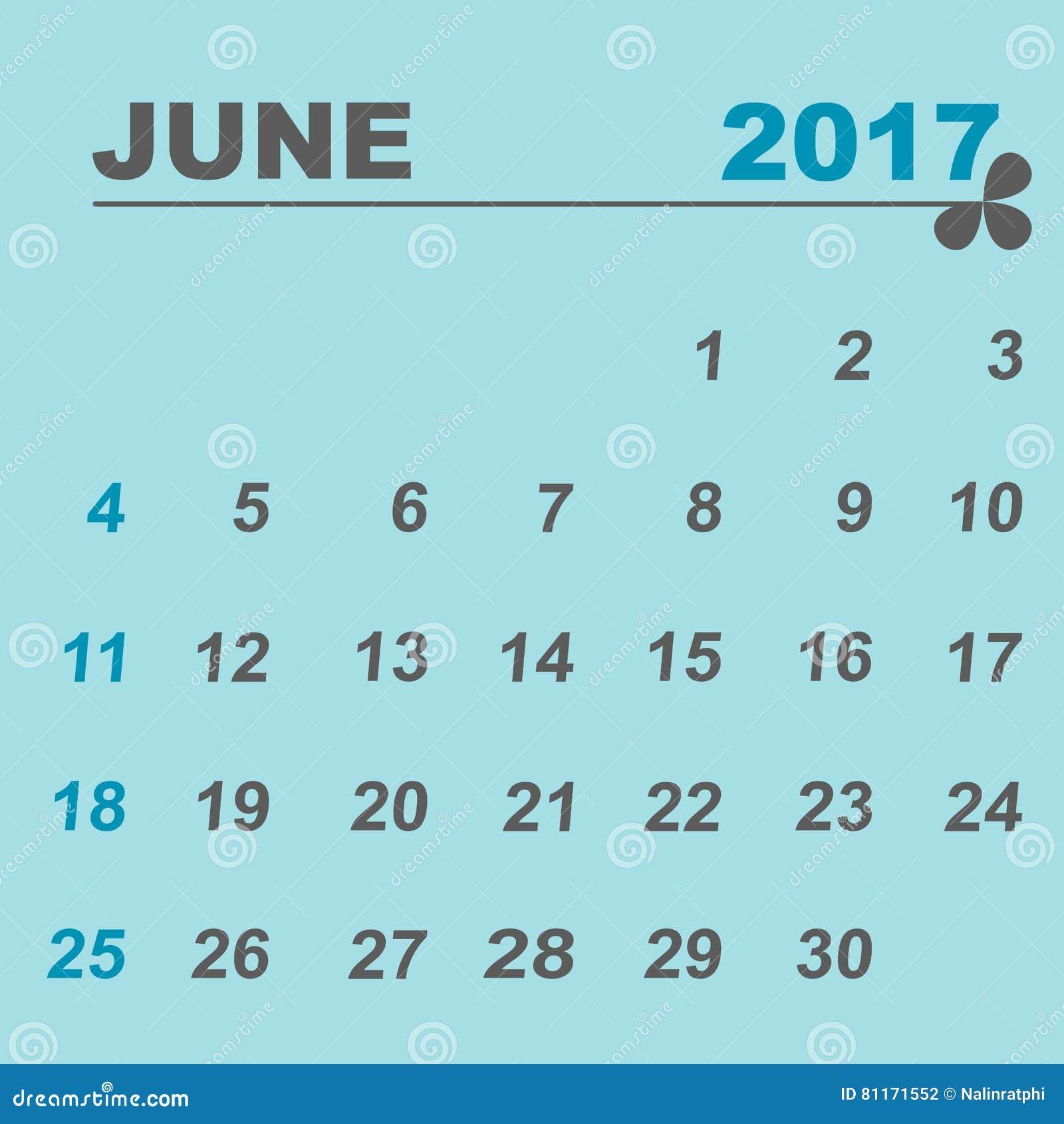june calendar 2017 holidays images cartoons