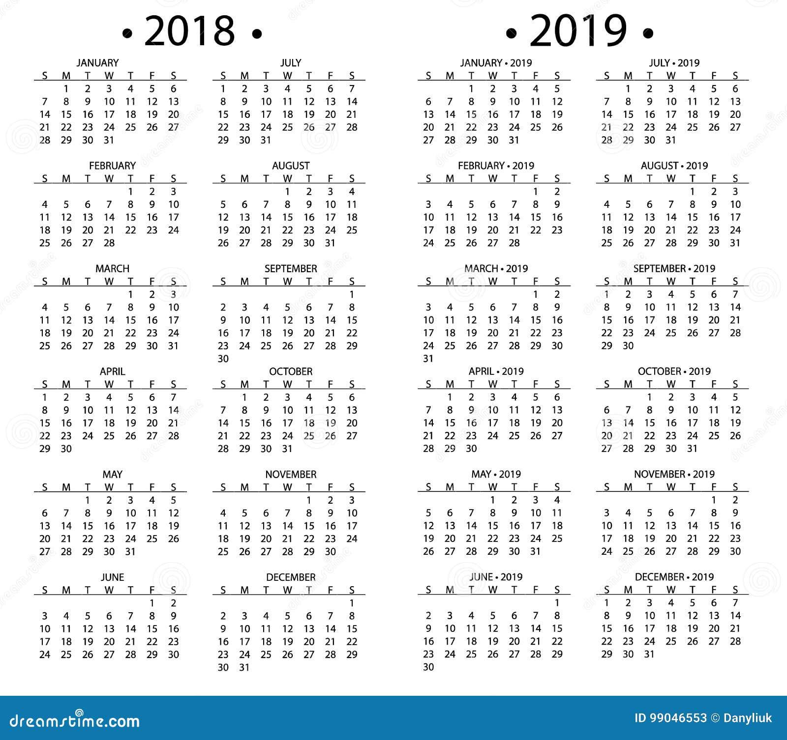 Diy Calendar Singapore : Simple calendar for and years template