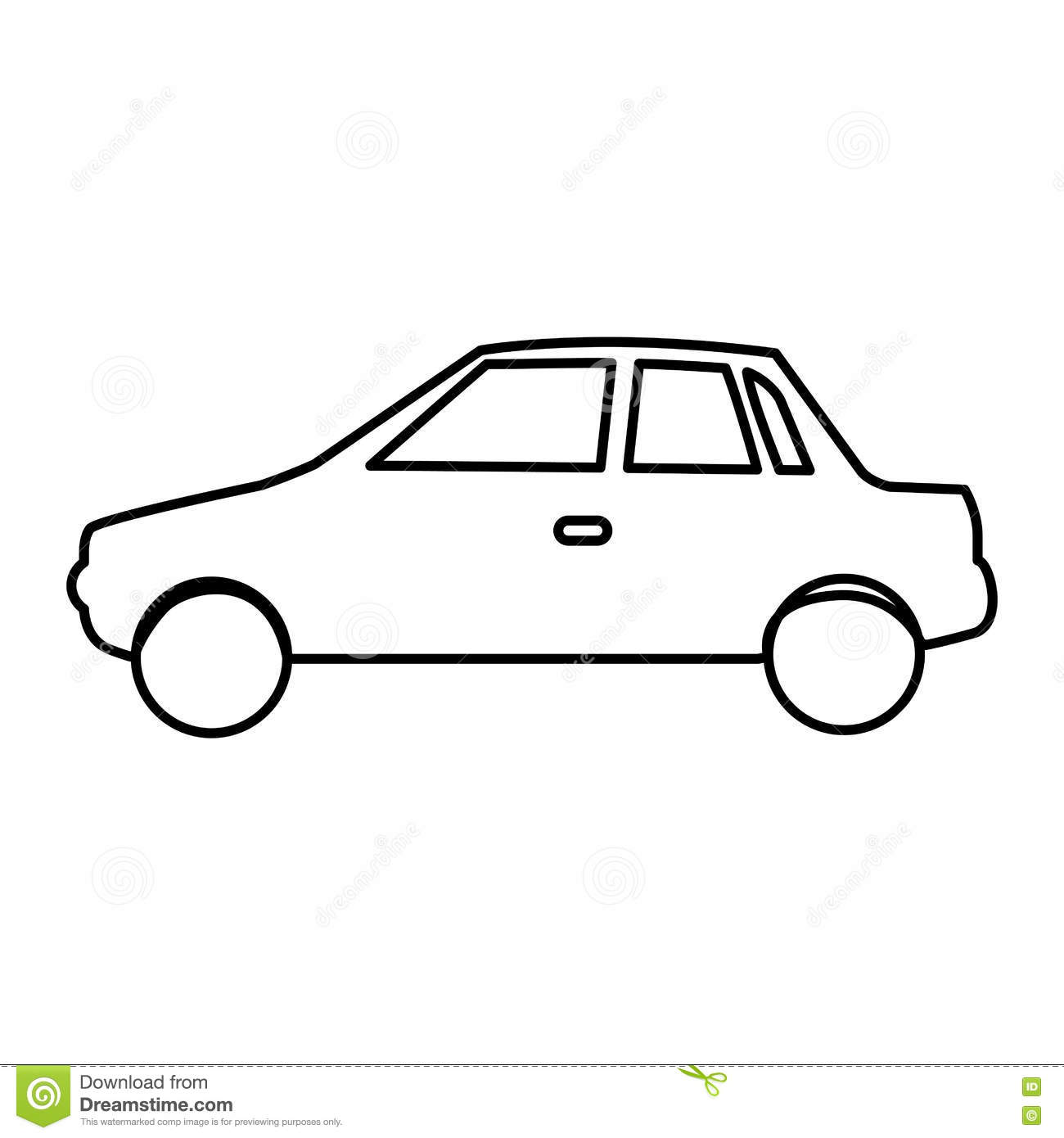 Simple Car Pictogram Icon Image Stock Vector Illustration Of Icon