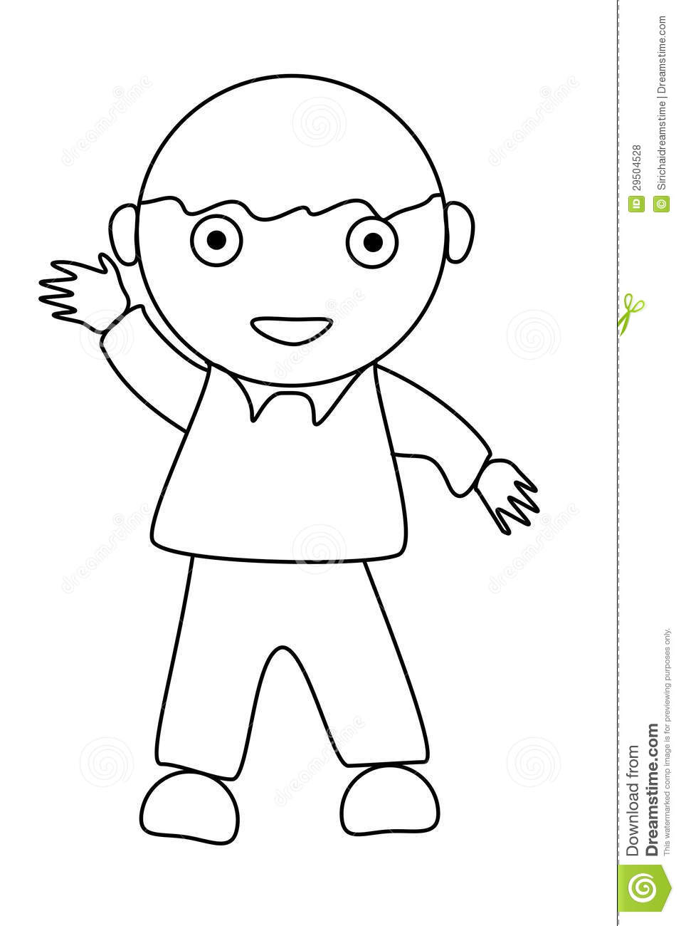 Simple Cartoon Of A Cute Boy Stock Illustration - Image ...