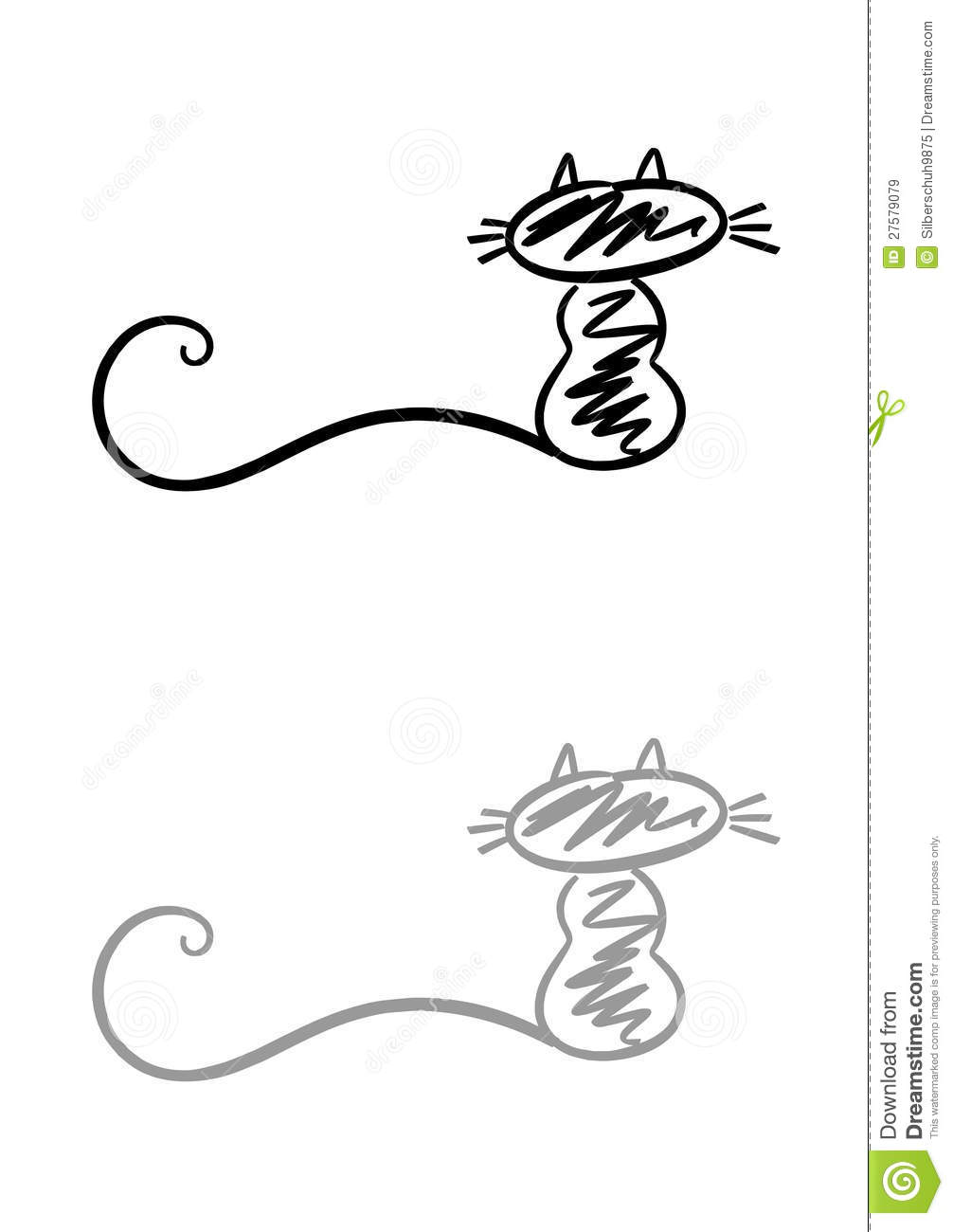 simple cat logo royalty free stock images image 27579079