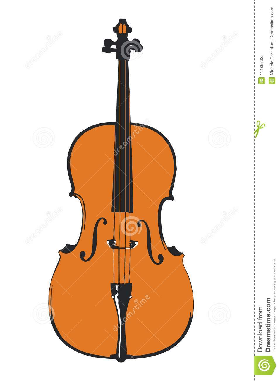 Download Simple Cello Illustration Stock Vector Of Classical