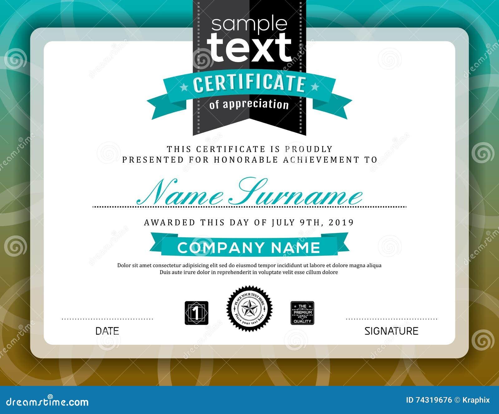 simple certificate of appreciation border frame template