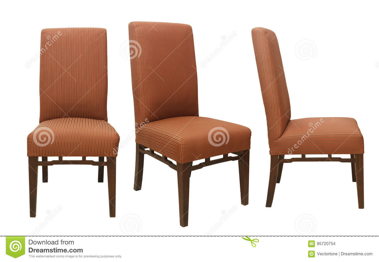 Simple Chairs From Different View Isolated On White Background ...
