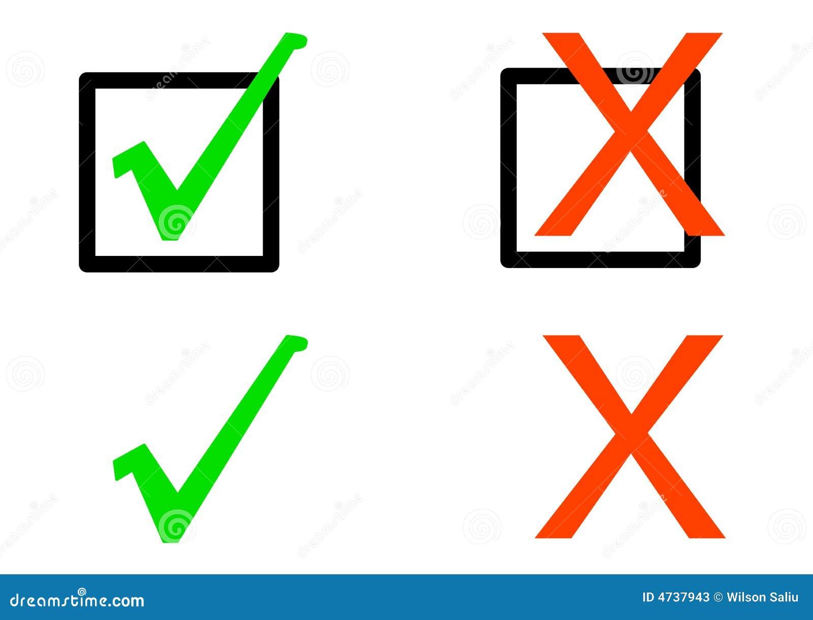 Simple Check Symbols Stock Photos Image 4737943