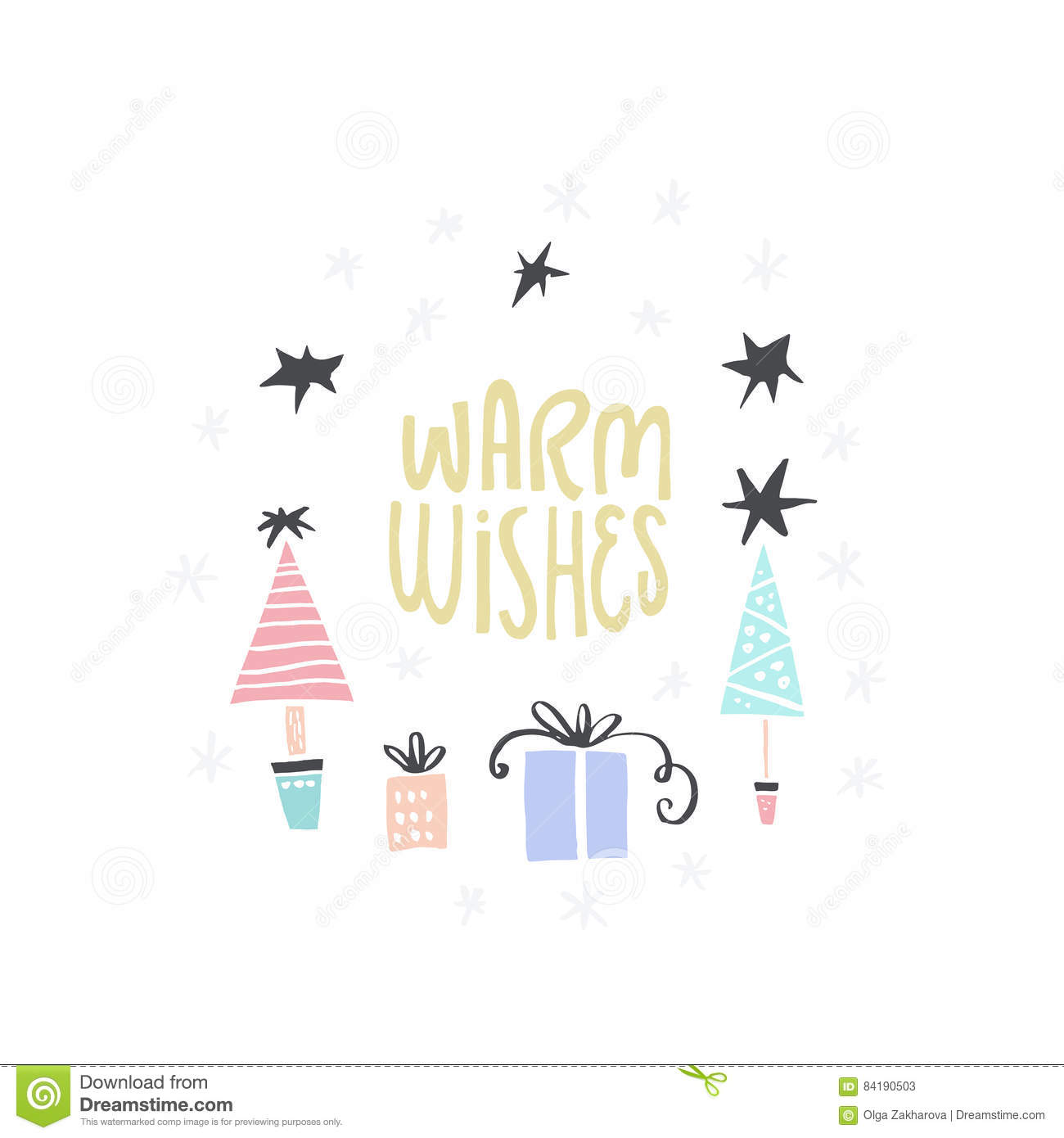 simple christmas card stock vector illustration of merry 84190503