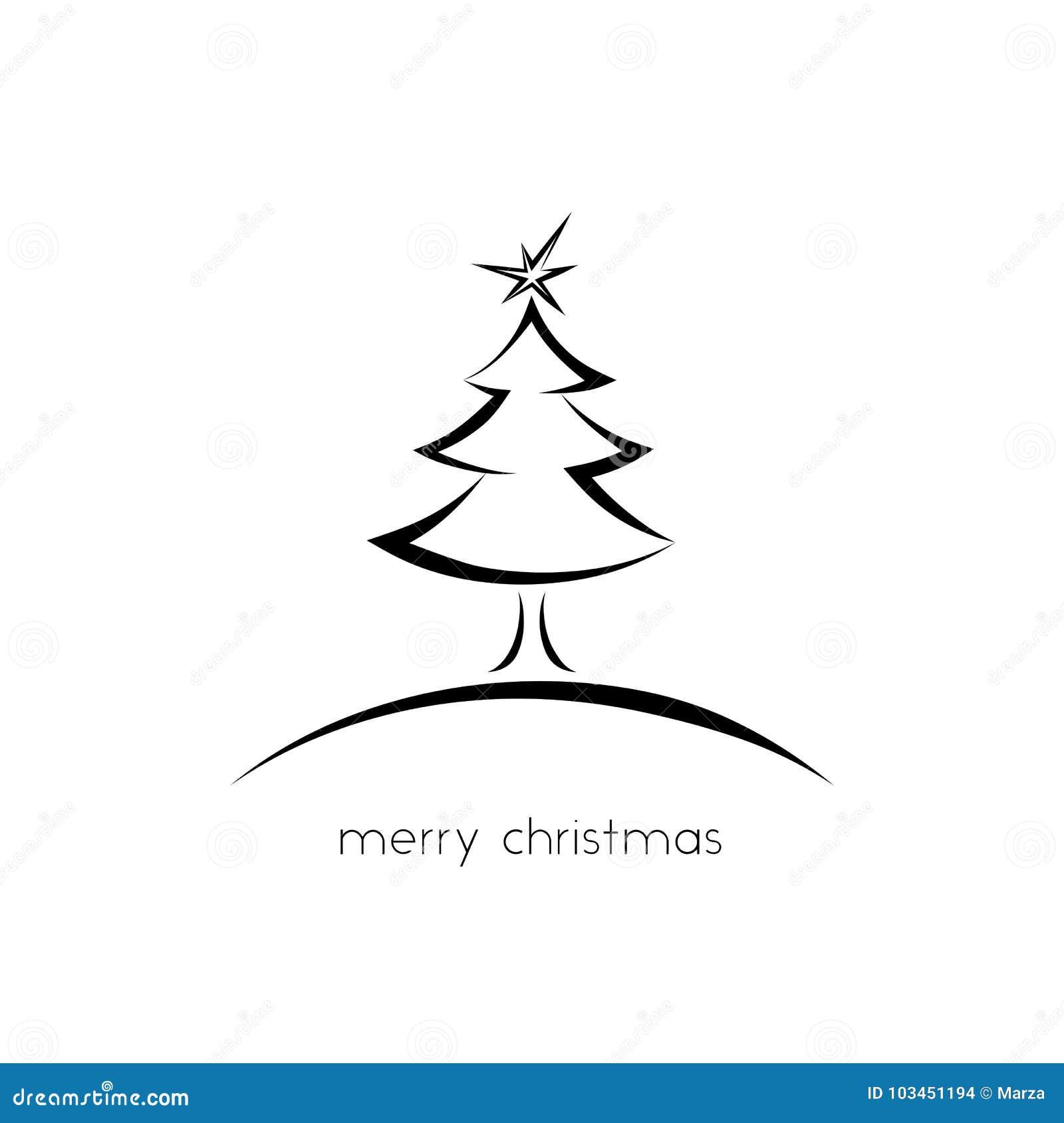 Simple Christmas Greeting Card Stock Illustration Illustration Of
