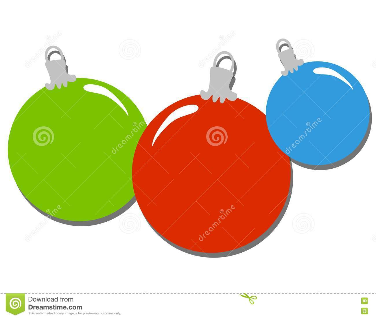 Simple Christmas Ornaments Clip Art Stock Illustration ...