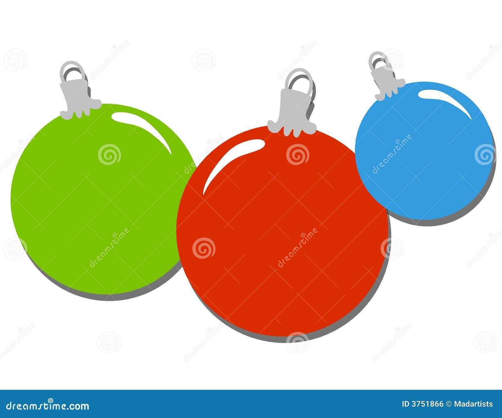 Simple Christmas Ornaments Clip Art Stock Illustration ...
