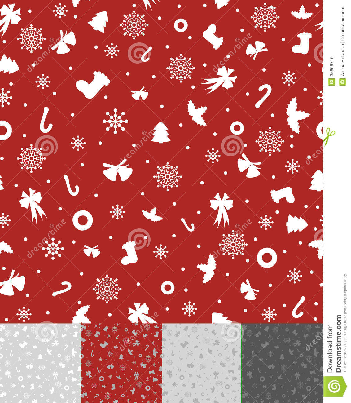 Simple Christmas Pattern Royalty Free Stock Image Image
