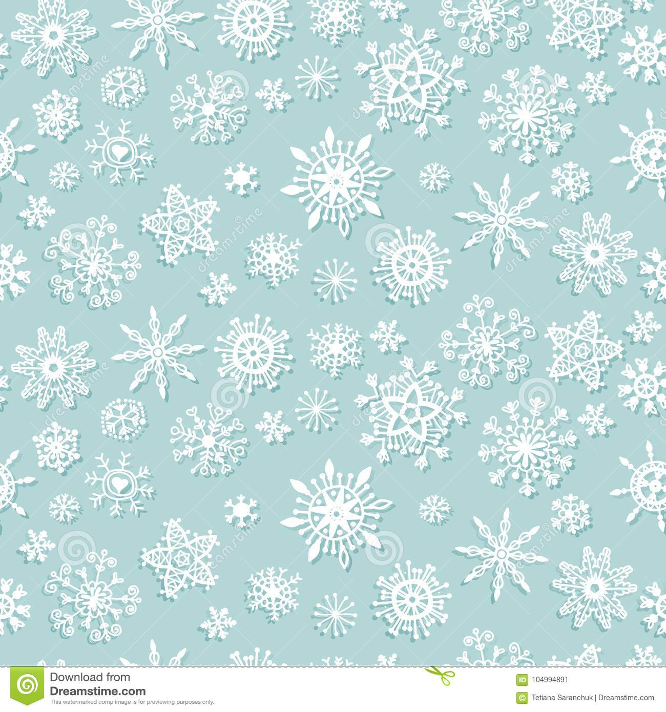 simple seamless pattern with snowflakes vector christmas background