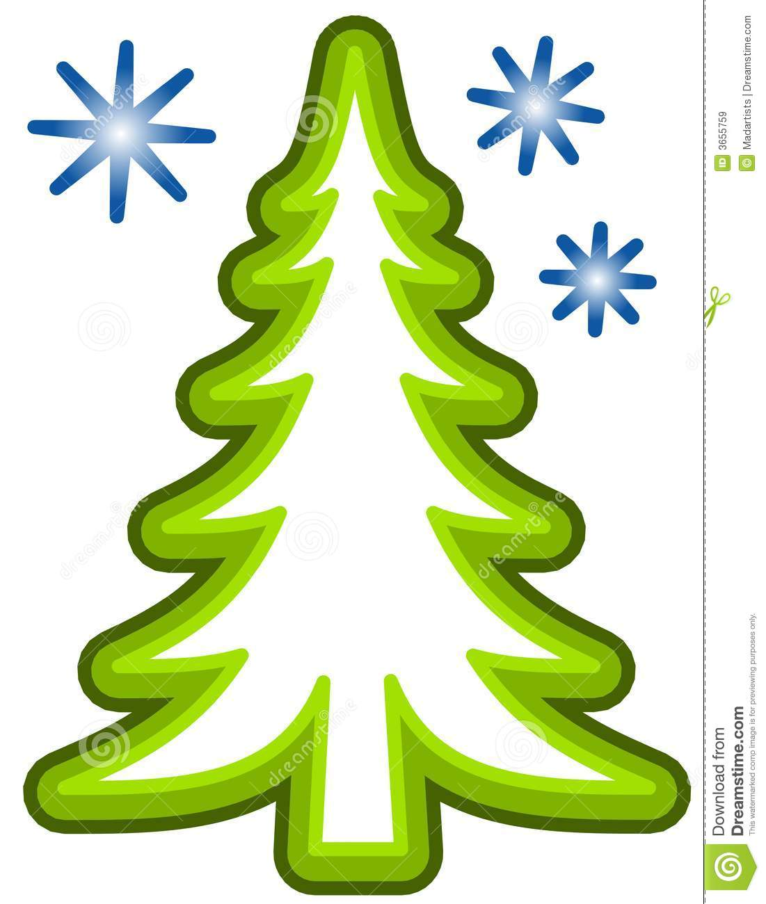 Simple Christmas Tree Clip Art Royalty Free Stock Images - Image ...