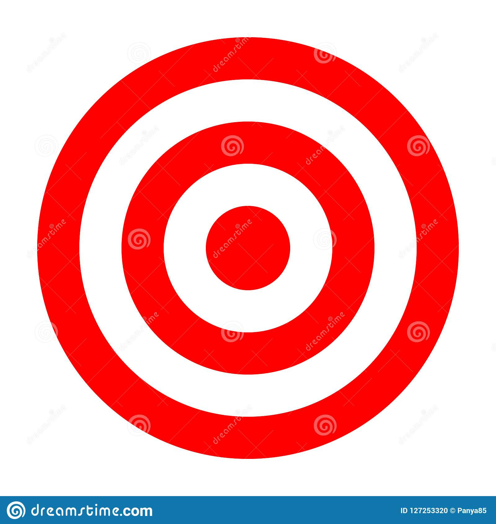 simple circle target template bullseye symbol stock vector
