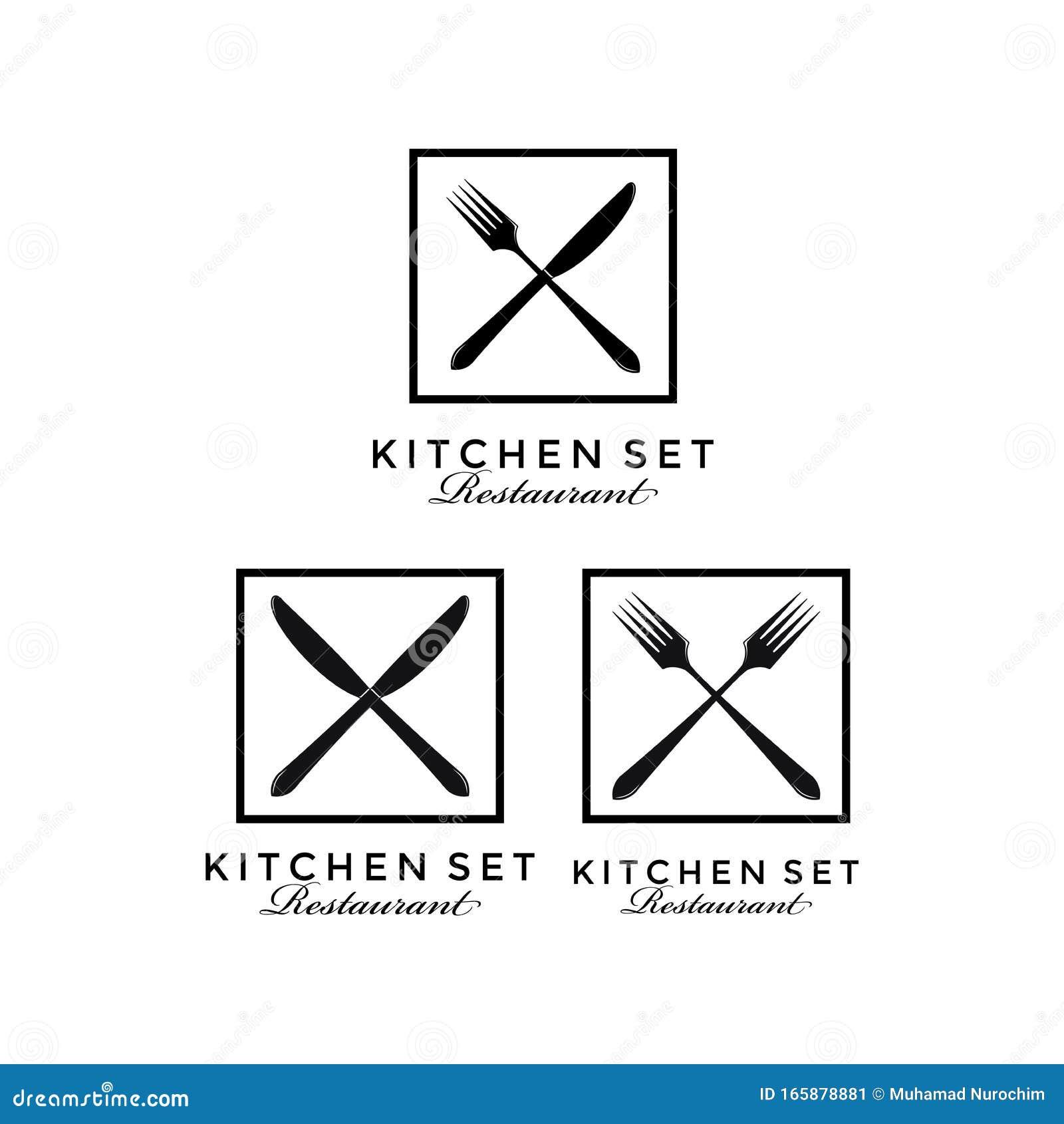 Crossed Spoon Fork Knife Rustic Vintage Retro Restaurant Logo Design Stock Vector Illustration Of Bakery Fresh 165878881