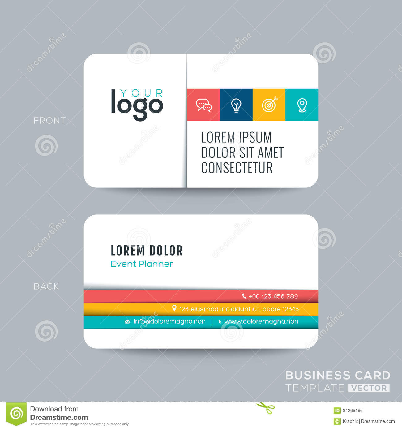 Simple clean business card design stock vector image 84266166 simple clean business card design magicingreecefo Images