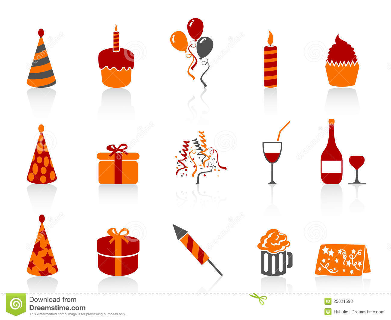 Simple Color Birthday Icon Stock Photos - Image: 25021593