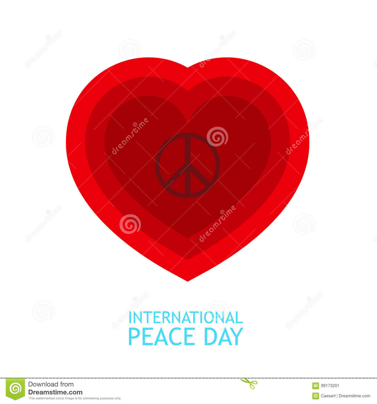 Red Heart And Peace Symbol Inside For Poster Or Background About
