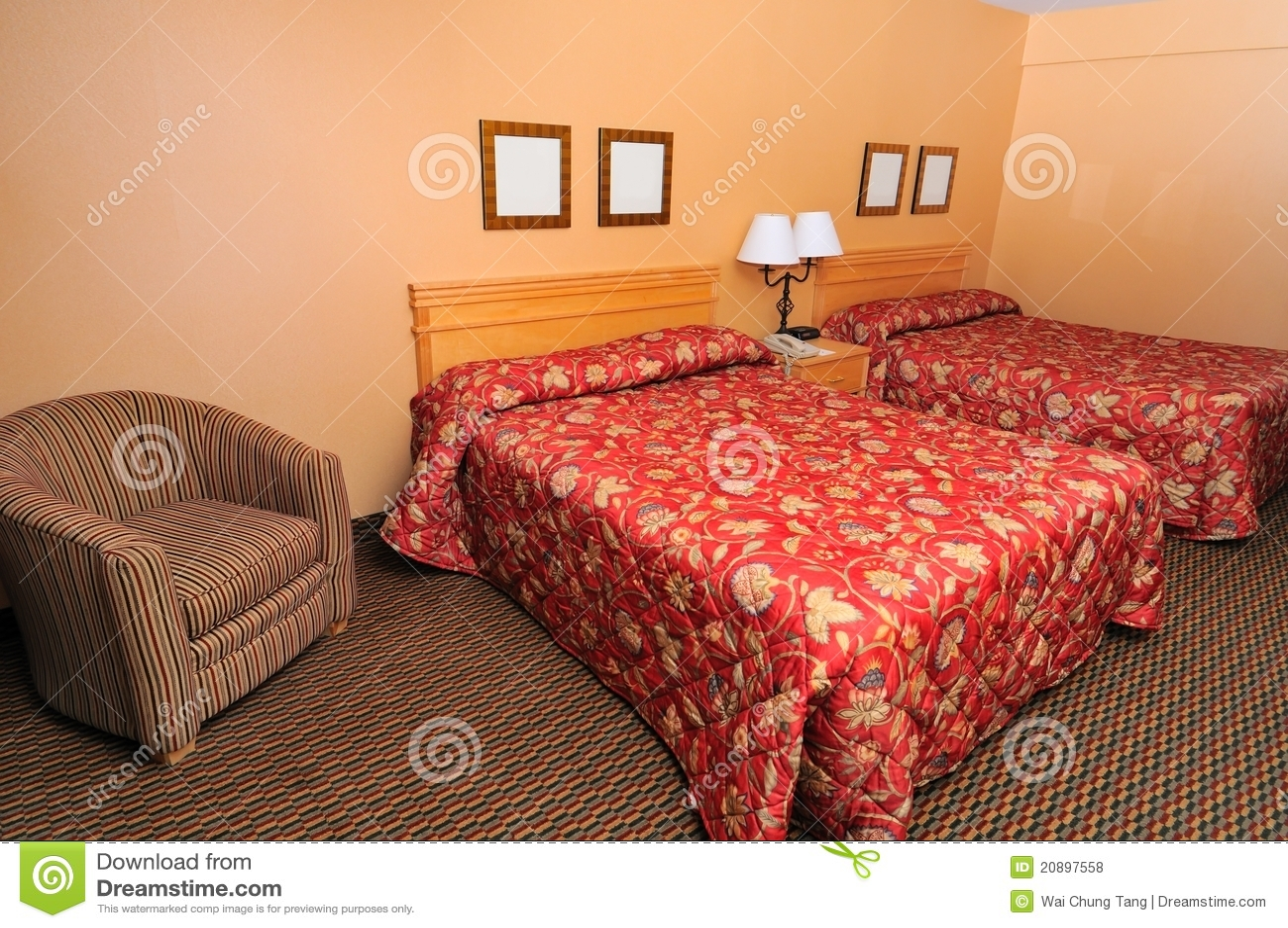 Simple Cozy Bedroom Royalty Free Stock Photos Image