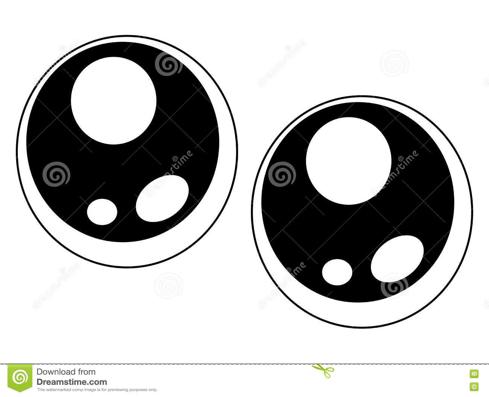 Simple Cute Eyes Vector Symbol Icon Design. Stock Vector ...
