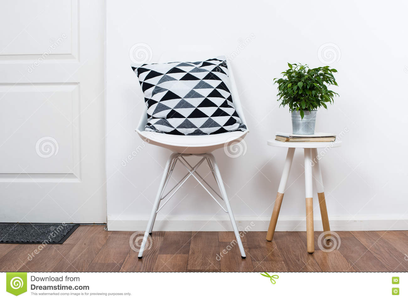 Scandinavian Home Interior Decoration Simple Decor Objects And Furniture Minimalist White Room